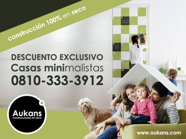 Casas minimalistas - Aukans construcciones en seco