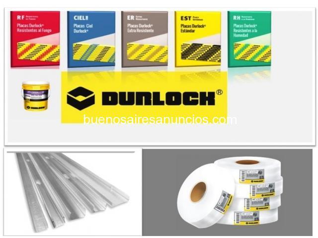 Placas Durlock 9,5 y 12,5 mm.