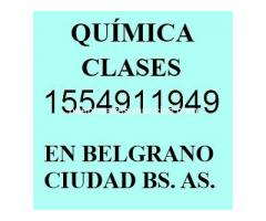 Clases Particulares de Química en Nuñez I5549II949 CBC Secundarios Univ