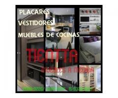 Muebles a medida- placares, vestidores, muebles para cocina.