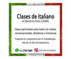 CLASES DE ITALIANO EN BUENOS AIRES CABA